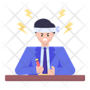 Employee Burnout Exhaustion Stressed Icon