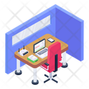 Employee Cabin Icon
