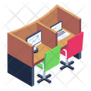 Office Cabins Employee Cabins Workstation Icon