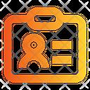 Employee Card Id Badge Id Pass Icon