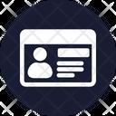 Employee Card Id Badge Id Card Icon