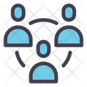 Employee Connection Network People Icon
