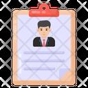 Employee Biodata Employee Cv Resume Icon