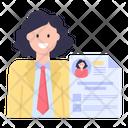 Employee Profile Employee Cv Employee Resume Icon
