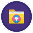 Employee Data Record Data Icon