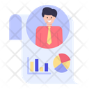 Employee Data Chart Icon