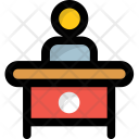 Employee Desk Workstation Icon