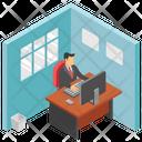Employee Desk Employee Table Workplace Icon