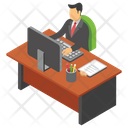 Employee Desk Icon
