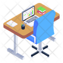 Office Table Employee Table Employee Desk Icon