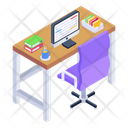 Place Of Work Workspace Employee Desk Icon