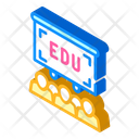 Colleagues Education Isometric Icon