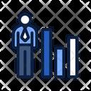 Analyze Presentation Worker Icon