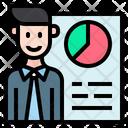 Employee Graph Employee Report Experiences Icon