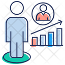 Employee Growth Growth Chart Promotion Icon