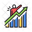 Career Growth Color Icon