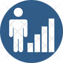 Employee Growth Career Growth Analytics Icon