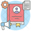 Employee Handbook User Handbook Employee Manual Icon