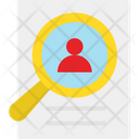 Employee Hunting Find User Magnifier Icon