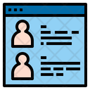 Employee Information Website Online Icon
