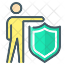 Insurance Person Protection Icon