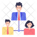 Team Structure Team Network Employee Network Icon