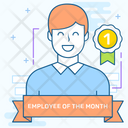 Employee Recognition Employee Of Month Best Employee Icon