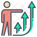 Growth Person Chart Icon