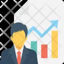 Employee performance graph Icon