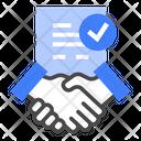 Employee Recruitment Contract Icon