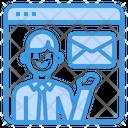 Mail Resume Recruit Icon