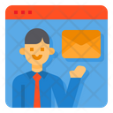 Mail Resume Recruit Icon