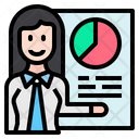Employee Report Employee Graph Experiences Icon