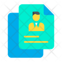 Employee Resume Icon