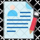 Employee Resume Employee Cv Icon