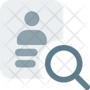 Employee Search Recruitment Human Resource Icon