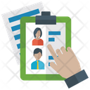 Employee Selection Candidate Selection Selected Person Icon