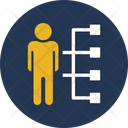 Employee Skills Hierarchy Leader Icon
