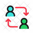 Employee Swap Replacement Career Icon