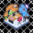 Employee Discussion Employee Talking Employee Meeting Icon