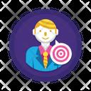 Target Target Business Man Aim Icon