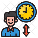 Employee Time Man Watch Icon
