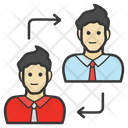 Employee Transfer Human Resource Management Staff Movement Icon