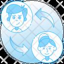 Employee Transfer Employee Transforming Employee Exchange Icon