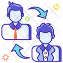 Employee Transfer Employee Swipe Employee Replacement Icon
