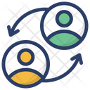 Employee Turnover Staff Turnover Team Management Icon
