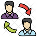 Employee Turnover Employee Referral Retention Icon