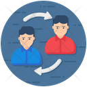 Employee Turnover Employee Referral Retention Icon