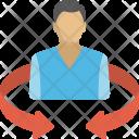 Employee Turnover Promotion Icon