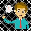 Warning Alert Employee Icon